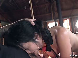 asian college girl predominated and pummeled