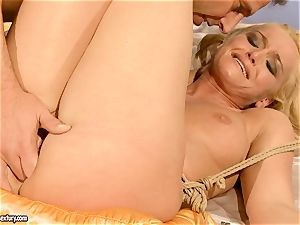 red-hot Kathia Nobili gets her pussy filled with wood