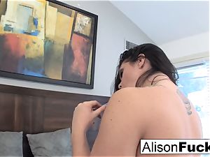 Alison Tyler plays with her muff