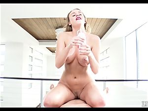 point of view style drilling oiled up super-naughty Alexis Adams