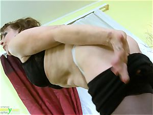 OldNannY steaming Mature woman Solo onanism Showoff