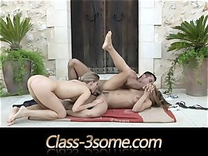 spunky fuck with two delectable honies