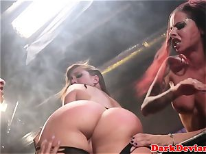 female domination 3 lesbos raunchy belt dick tear up session
