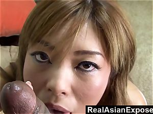 RealAsianExposed buxomy asian Vs a thick