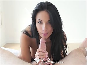 PureMature mummy Anissa Kate anal invasion poke and internal ejaculation