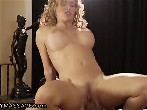 Krissy Lynn luvs her massages Deep and hard