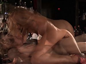 Barmaid Carter Cruise humps her chief at work