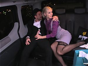 fucked IN TRAFFIC - Christmas car hump with Swedish honey