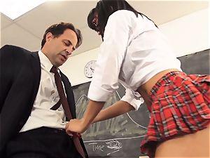 naughty student Luna starlet seduces her schoolteacher