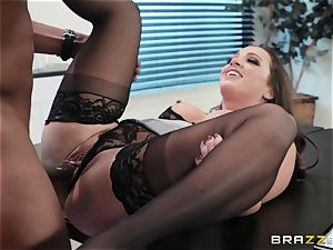 ladies Pull panties Down Aside and are fucked By ebony schlongs - interracial panties drill