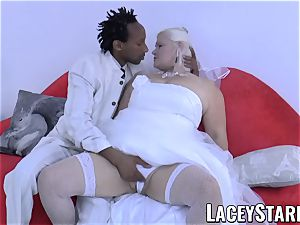 LACEYSTARR - grannie bride fed with spunk after humping