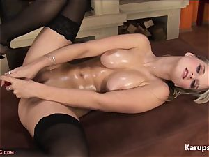huge-boobed Mirra In stockings With A plaything