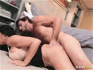 young fellow tears up his bride's beautiful mommy Reagan Foxx before the wedding
