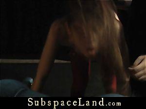 Tina Blade backside lashed in voluptuous crimson lingerie