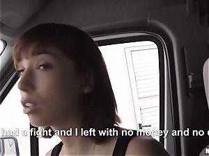 Tina steaming sucks a strangers bone in his car