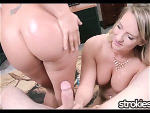 STROKIES Cali Carter and Layla Price double hj