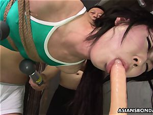 asian roped up to be sexually tortured by some freaks