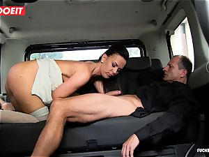 cab driver takes advantage of sad stunner and penetrates her