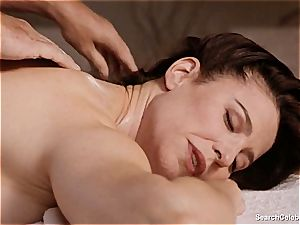 beautiful Mimi Rogers gets her whole body massaged