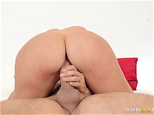 My wife's obscene enormous culo sista Nicolette Shea railing my cock in the matrimonial couch