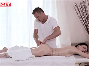 LETSDOEIT - Czech cougar Gets abused on the massage Table