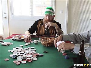 Sarah Jessie penetrating her spouses poker friend