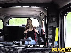 fake cab slender redhead likes harsh orgy
