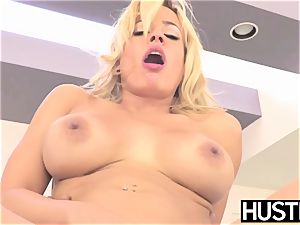 big-chested vixen Luna star rode rock hard in big black cock session