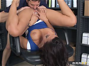 Married dude tears up lusty hairdresser Rachel Starr in front of his wifey