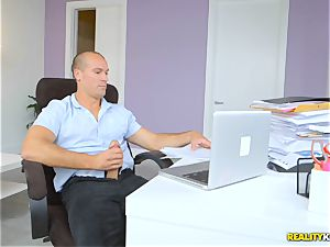 amazing Bunny has her succulent twat treated with monster dick in the office