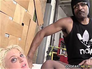 Leya Falcon Gets butt-banged By A suspended ebony guy