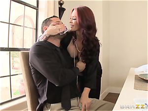 red-haired wifey Monique Alexander getting dicked across the dining table