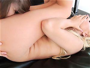 Dani Daniels licks on Lexi Belle's raw vagina