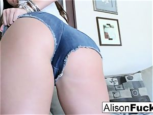 immense boob Alison caresses her big globes