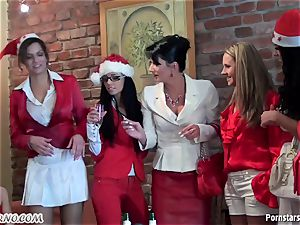 inebriated office chick lesbian party with pissing