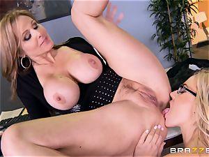 boss Julia ann smashes her luxurious assistant Olivia Austin