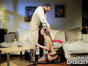 wild fuckdoll Doris Ivy is being dominated by a perver