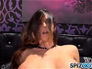 Spizoo-Watch Alison Tyler ravaging a ginormous pink cigar phat udders