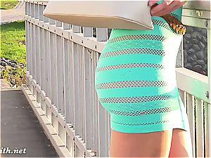 Jeny Smith's translucent sundress