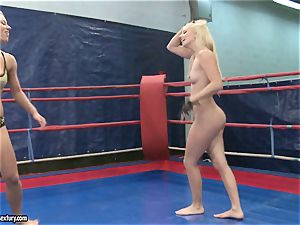 Nicky naked babe smooching her splendid enemy