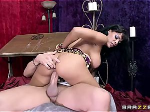 Luna star watches stiffy in her future
