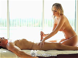 Alexis Adams uses her forms and beaver