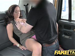 faux taxi dame in pinkish underwear gets creampied