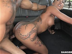 humungous rump Bella Bellz is on the BangBus