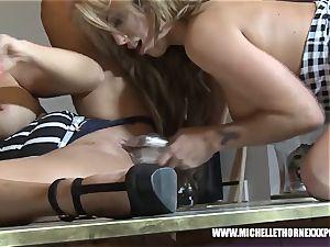 ash-blonde buxom booty eat lesbo fucksluts smashing big toys