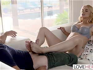 LoveHerFeet Caught tugging Off By super-naughty Stepmom