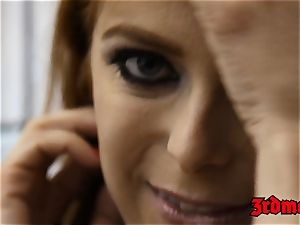 red-haired succubus Penny Pax plumbed into squirting