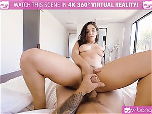 VR porn - huge-boobed Abella Danger casting bed get insatiable
