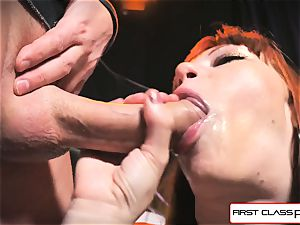 first-ever Class point of view - Alexa Nova sucking a ginormous meatpipe in point of view