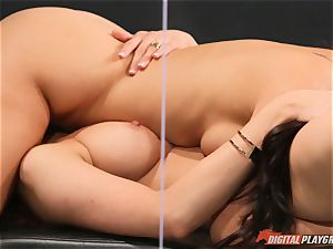 labia tonguing galore with horny Jayden Cole and Eva Lovia